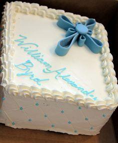 Baby Blue Baptism Cake