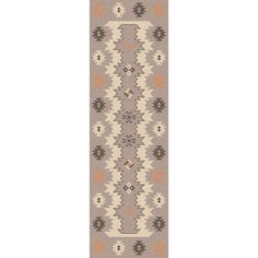 Hand-woven from wool this rug has a novelty design with a flat pile. This rug will bring great style to any room.