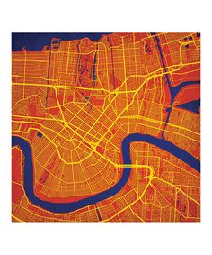 Love this New Orleans Map Print on #zulily by City Prints, $35-$140 !! # #zulilyfinds