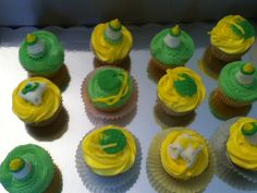 My vanilla cupcakes for a baby shower.