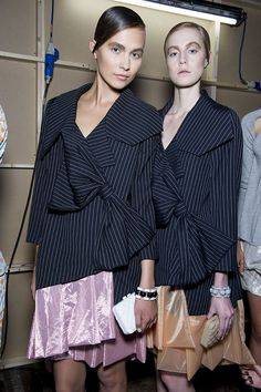 Check J.W. Anderson's SS13 backstage snaps as seen in the Topshop Showspace. #TOPSHOP #LFW #SS13 #JWANDERSON