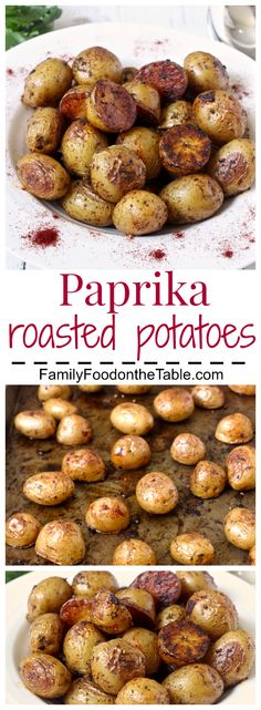 Paprika roasted potatoes - an easy, flavorful side dish! | FamilyFoodontheTable.com