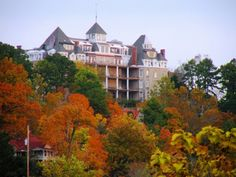 Crescent Hotel, Eureka Springs. I've stayed there a couple of times, didn't see any ghosts :)