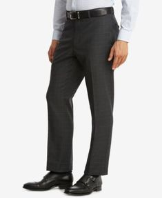 Tommy Hilfiger Modern-Fit Men's Th Flex Performance Gray Plaid Suit Pants - Blue Plaid Suit, Wool Suit, Stylish Recliners, Fitted Suit, Mens Fitness, Suit Pants, Tommy Hilfiger, Victoria, Shopping