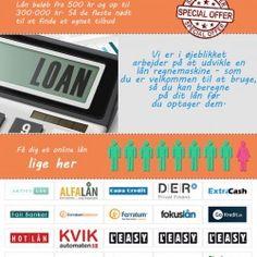 Lånebeløb på Online-lån.dk er fra 500 kr og op til 300.000 kr. Så de fleste er nødt til at finde et egnet tilbud.  Et lån bør passer dig perso