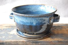 Midnight Stoneware Berry Bowl by MelsPotShop on Etsy, $32.00