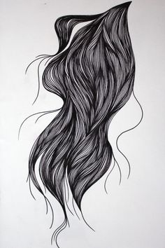 Hair drawn with fineliner pen. nancystraughan.blogspot.com