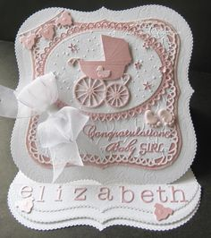 easel baby carriage card