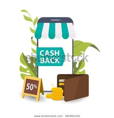 Cas Hback Icon Wallet Coin Concept Stock Vector (Royalty Free) 1824951242 Image Now, Cas, Royalty Free Stock Photos, Banner, Concept, Treats, Wallet, Banner Stands, Sweet Like Candy