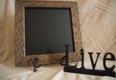 Framed Chalk board framed chalkboard black by PegsSecondChance, $20.00