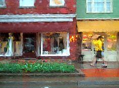 rainy street scene, ontario