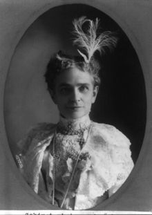 Ida McKinley.  The family still has the wing shaped diamond tiara shown in this photo (you can see a wing just below the base of the feather on the right side of her head).  The McKinley Presidential Library & Museum has borrowed it for special events in the past.