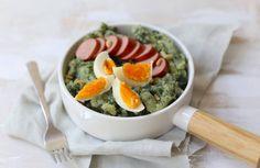 Spinaziestamppot met ei 20 Min, Guacamole, Pesto, Broccoli, Mexican, Ethnic Recipes, Foods, Drinks, Food Food