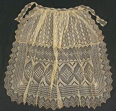 Totally AMAZING - a mid 19th cent. knitted apron. Cotton.