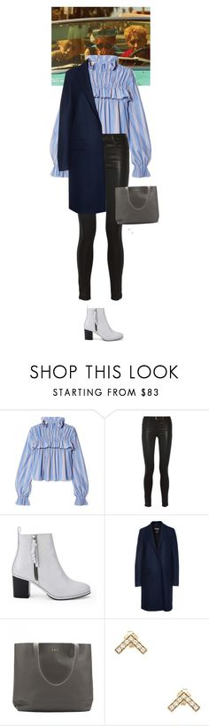 """Outfit of the Day"" by wizmurphy ❤ liked on Polyvore featuring Nuevo, Marni, J Brand, Opening Ceremony, MSGM, Cuyana, Elizabeth and James, ootd and ankleboots"