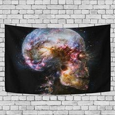 Halloween wall décor is especially twisted, creepy and spooky for Halloween 2017. In fact you can marvel at ghostly Halloween Wall decorations ranging from creepy skulls, Silly pumpkins, sleek black cats, frightening monsters and other creepy frights. Great Halloween Holiday wall décor makes Halloween wicked cool.   OPRINT tapestries Halloween skull death Wall Decor Hippie Tapestries Grim Reaper tapestry wall art,bedroom living room dorm wall hanging, home d¨¦cor tapestry