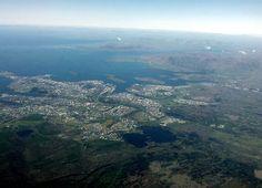 Reykjavík seen from above