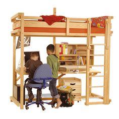 Lit mezzanine WOODLAND. www.meubles-pour-enfants.com