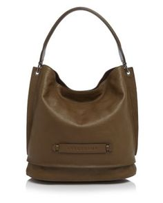 Crafted from buttery leather with a monochromatic logo plaque, this rich-looking Longchamp hobo is minimal meets luxe. | Leather | Imported | Shoulder strap | Snap closure; lined  | Three interior zip