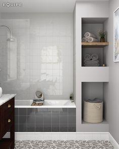 Chevron wall sky blue 18 6x5 2 bathroom pinterest for 6x5 bathroom ideas