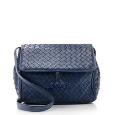 Bottega Veneta Vintage Intrecciato Flap Shoulder Bag Small Leather Goods 84620c07972d6