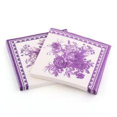 5 X 2x Paper Napkin Square Printed Serviettes Party Wedding Tableware Decor Purple