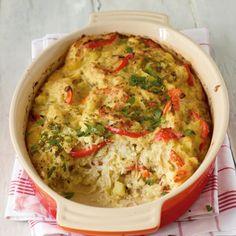Kartoffel-Paprika-Sauerkraut-Auflauf