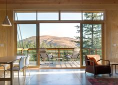 Cabin in Methow Valley, Washington.  More info, including floor plans and schematics, available at Balance Associates.  Photos by Steve Keating
