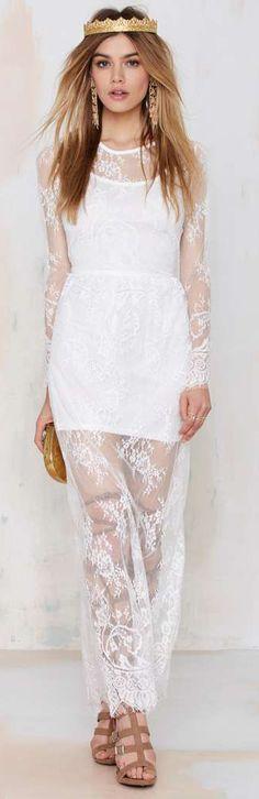 Lace Lady Maxi Dress -==