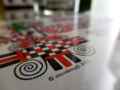Postcards inspired by traditional slovak patterns / Pohľadnice inšpirované tradičnými slovenskými vzormi