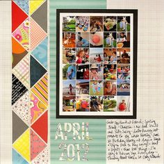 I like the triangles of paper for the border.... great way to use up scraps, especially nice if from one coordinated paper pack.