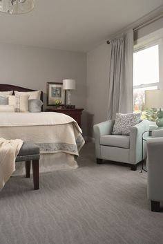 "I like the carpet and overall look of the room.""Sculptured carpet can make even the most traditional furniture and decor look a little more modern. Teal Carpet, Patterned Carpet, Carpet Colors, Horizontal Murphy Bed, Modern Murphy Beds, Home Entertainment Centers, Carpet Trends, Carpet Ideas, Traditional Furniture"