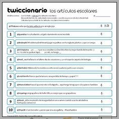 Twiccionario: Los artículos escolares