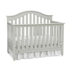 "Fisher-Price Kingsport Convertible Crib with Just the Right Height - Misty Grey - Fisher-Price - Babies""R""Us"