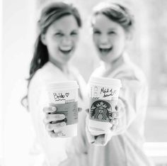 Adorable Bride and Maid of Honor / Sister Duo Getting ready on the Wedding Day