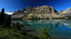 Mountains at Bow Lake by Walter Niederbauer on 500px