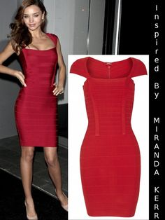 Vestido Bandage Celebrities Miranda Kerr VB003