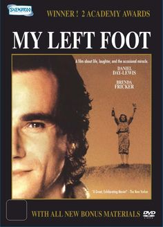 My Left Foot. First movie I saw Daniel Day Lewis in Love Film, Love Movie, I Movie, Irish Movies, Old Movies, Cinema Posters, Cinema Cinema, Movie Posters, My Left Foot