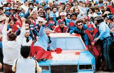 The Storied Career of Richard Petty--Petty drives his car into victory lane after his record setting 7th Daytona 500 in 1981.