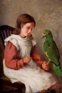William Eadie, Girl with a parrot