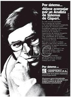 Por sistema... déjese aconsejar por un analista de sistemas de Gispert. Por Sistema... Gispert. Año 1972.
