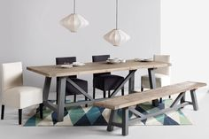 Bring the family together with this one-of-a-kind table and bench. Made from carefully selected fir wood, Iona gives your dining space that massive stamp of character. £599 | MADE.COM