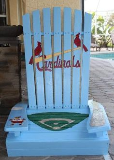 St. Louis Cardinals baseball handpainted wooden adirondack chair by PaintedPineappleFL by eliza
