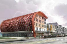 Gallaudet University Marketplace of Ideas   Architect Magazine   StudioMB Architects, Washington, DC, Commercial, Multifamily, Adaptive Reuse, New Construction, Modern, LEED Gold