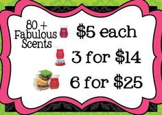 ~Scentsy Bar(s)~ 80+ Various delicious Scents 1/$5, 3/$14, 6/$25