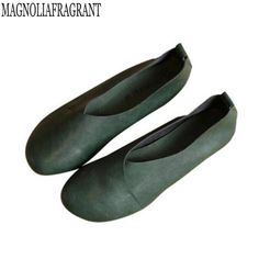 Cheap leather flat shoes women, Buy Quality flat shoes directly from China  flat shoes women Suppliers: 2017 Genuine Leather Flat Shoes Woman Hand-sewn  ...