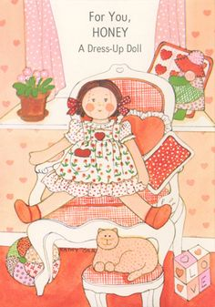 Valentine Paper Doll Cards - Ragdoll by Kathy Orr