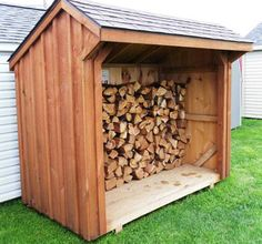 Storage And Organization , Firewood Shed Storage : Wooden Firewood Shed