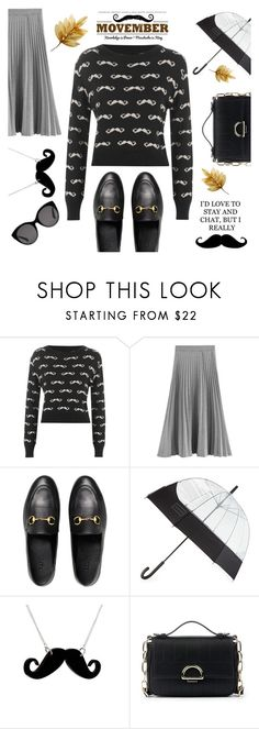 """""""Movember"""" by pure-vnom ❤ liked on Polyvore featuring WearAll, Gucci, Hunter, Any Old Iron and Sole Society"""