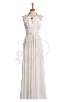 Bridesmaid Dress Infinity Dress White Floor by thepeppystudio